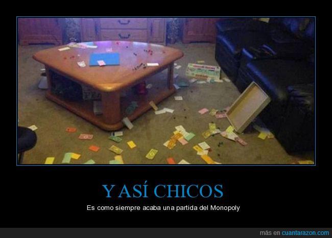 billetes,enfado,juego,mesa,Monopoly,piezas,rompe familias