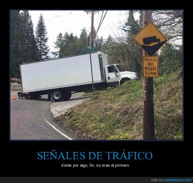 camión,fail,girar,señal
