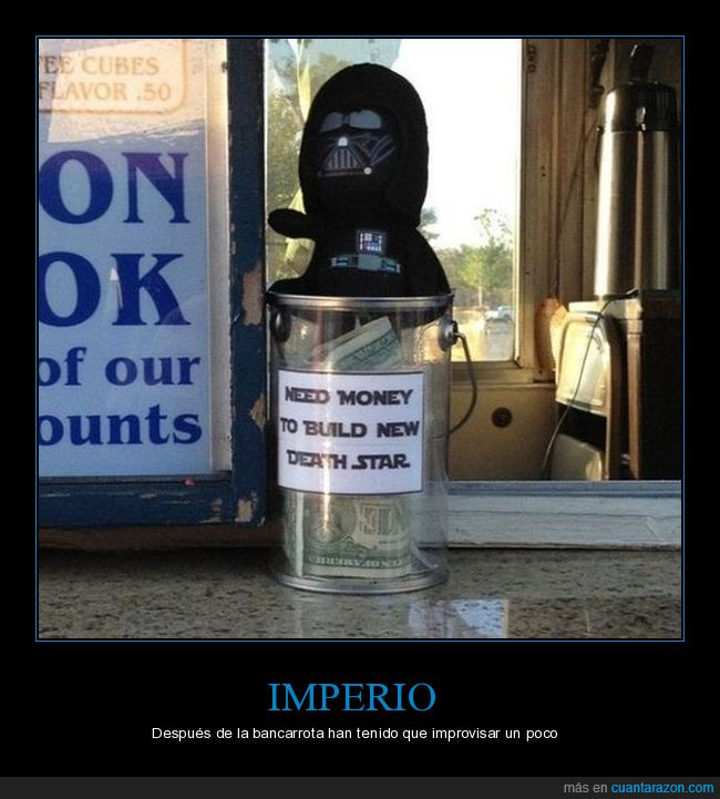 darth vader,death star,estrella de la muerte,imperio,propinas,star wars