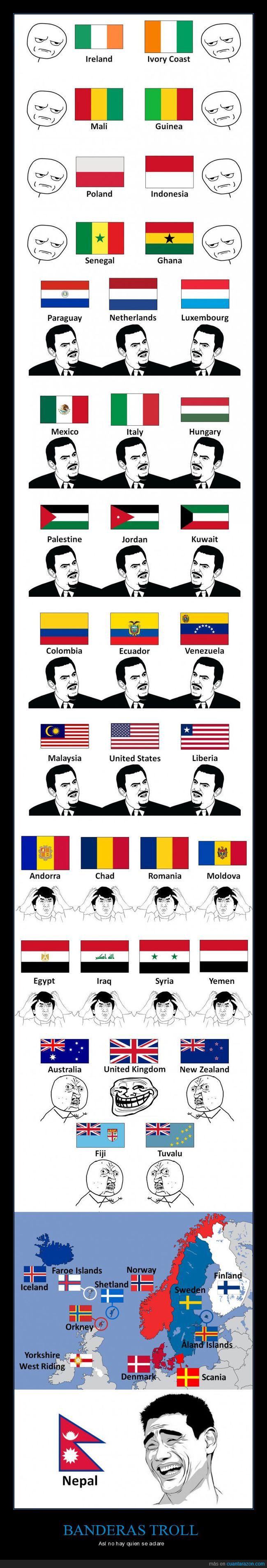 banderas,países,parecidas,troll