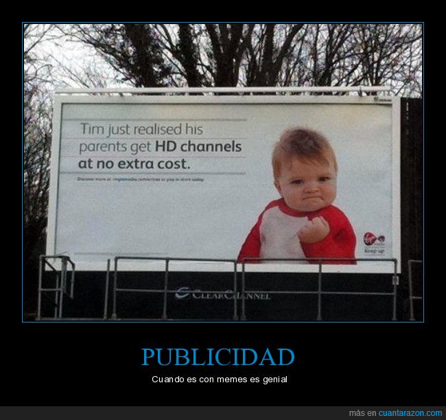 cartel,meme,publicidad,success kid
