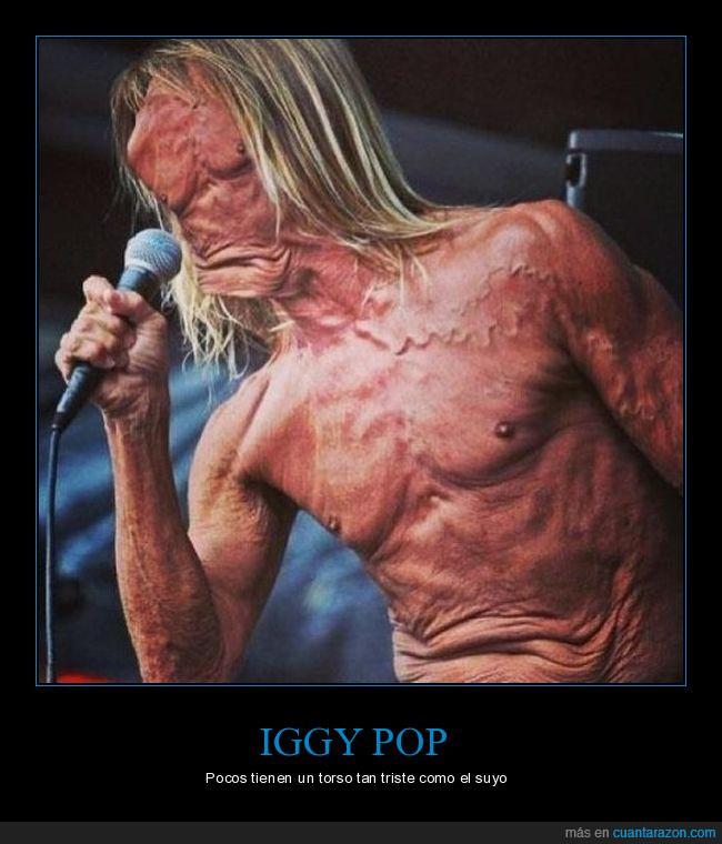 barriga,cara,iggy pop,micrófono,ombligo,torso