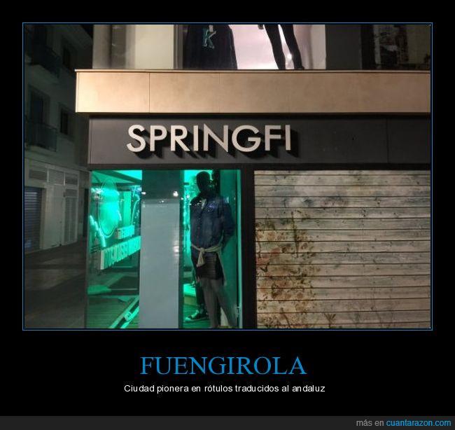 cartel,rótulo,springfi,springfield,tienda