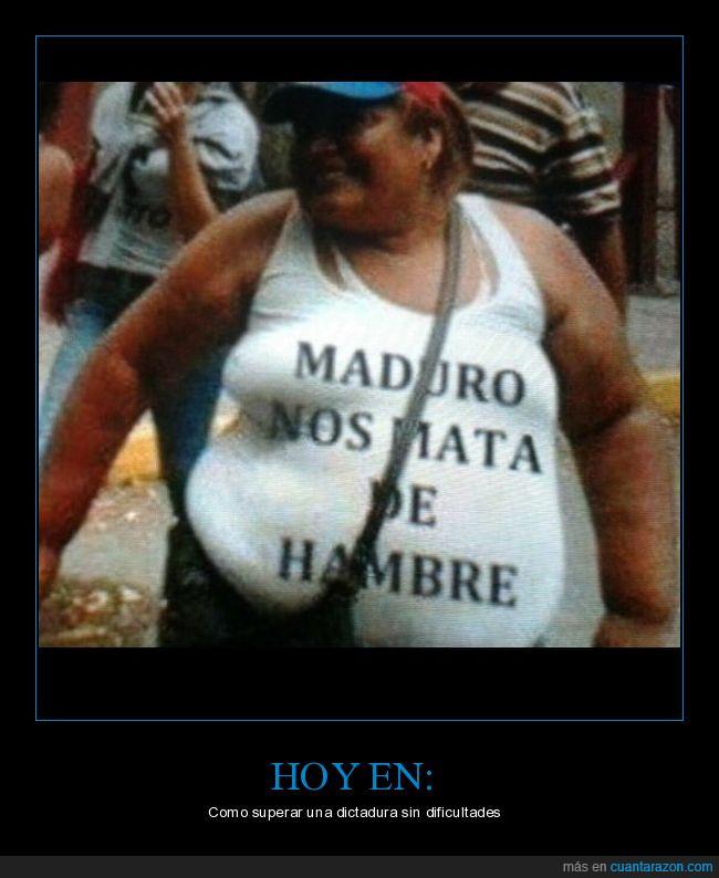 camiseta,dictadura,hambre,maduro,morir,Venezuela
