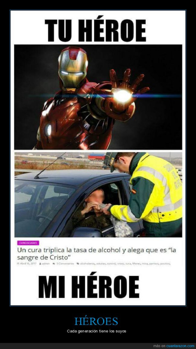 héroes,ironman,tasa de alcohol
