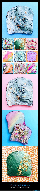 foodpron,mermaid toast,tostada de sirena