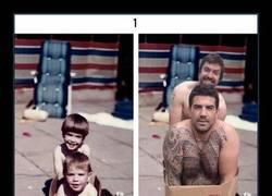 Enlace a 19 veces en que hermanos han dominado a la perfección el recrear fotos antiguas