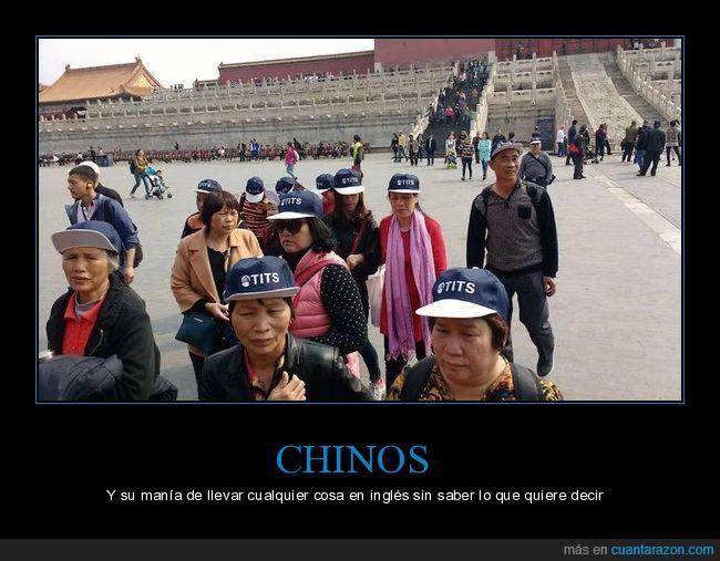 China,gorra,no solo los chinos,turistas