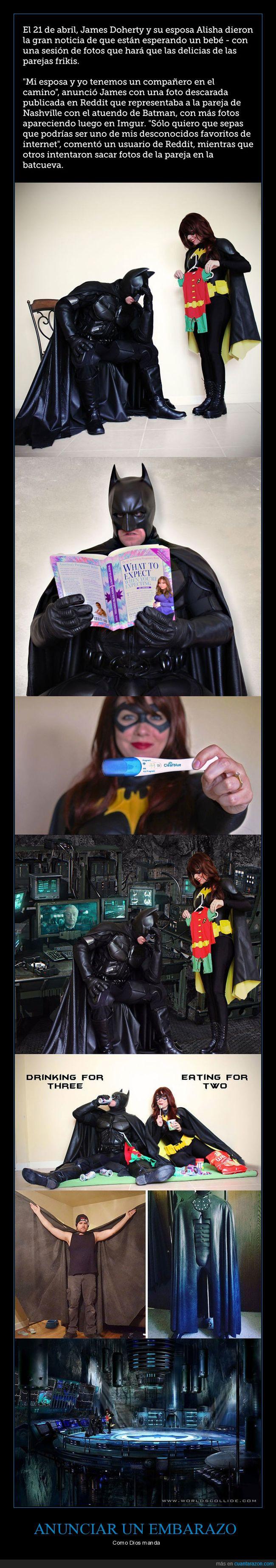 batman,bebé en camino,embarazo,superhéroes