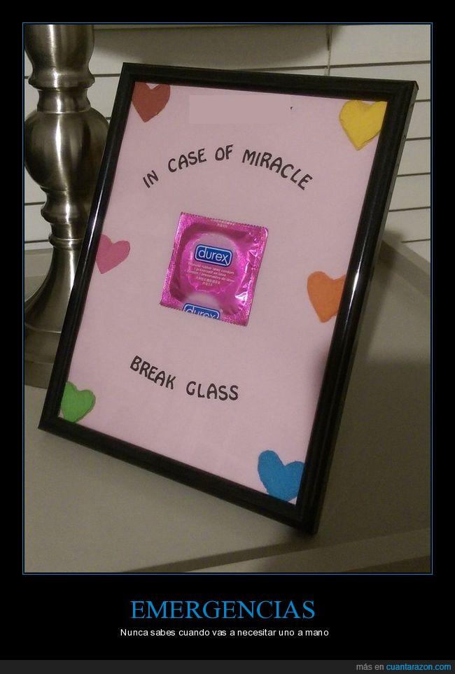 condón,cristal,cuadro,marco,romper
