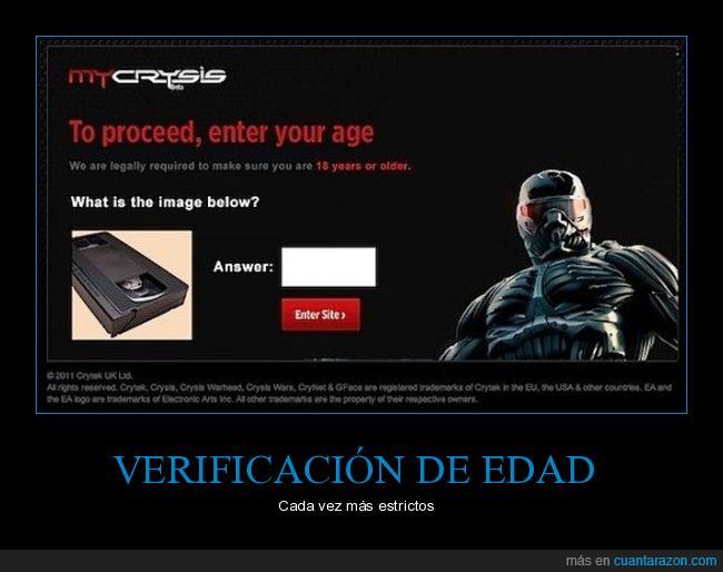 edad,entrar,página,registro,vhs