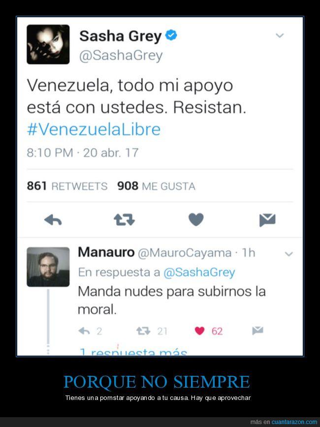 apoyo,sasha grey,venezuelalibre