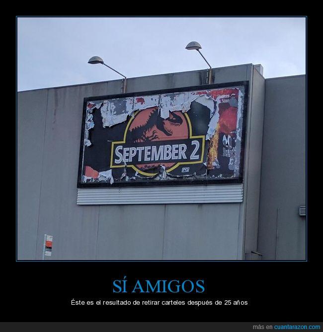 años,antiguos,carteles,dinosaurio,Jurassic Park,publicidad,septiembre 2
