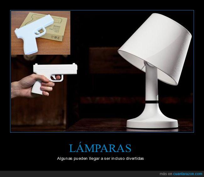 apagar,apuntar,disparo,lámparas