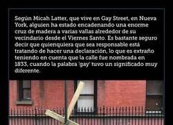 Enlace a La brutal respuesta de los vecinos tras encontrar esta cruz encontrada en calle Gay de Nueva York
