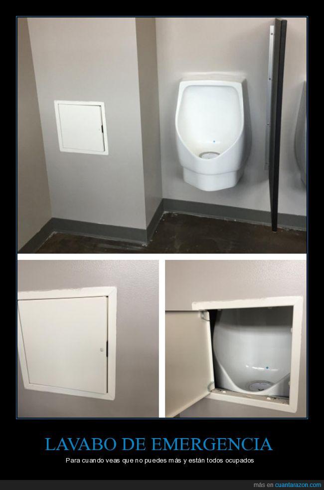 lavabo,mear,oculto,pared,tapado