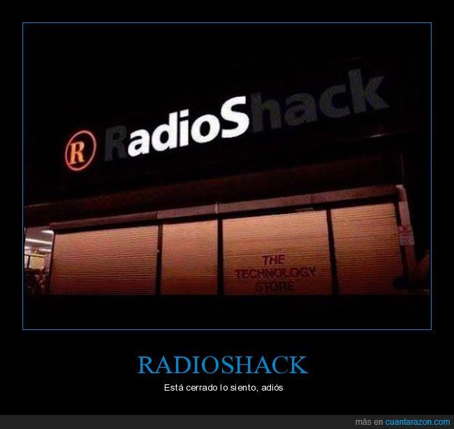adiós,apagado,cerrado,error,letrero,radioshack