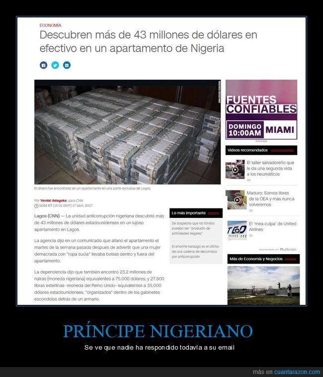 email,millones,nigeriano,príncipe