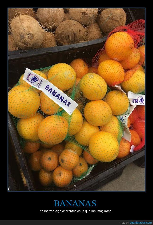 bananas,diferente,error,imaginar,mercado,naranjar,producto,supermercado