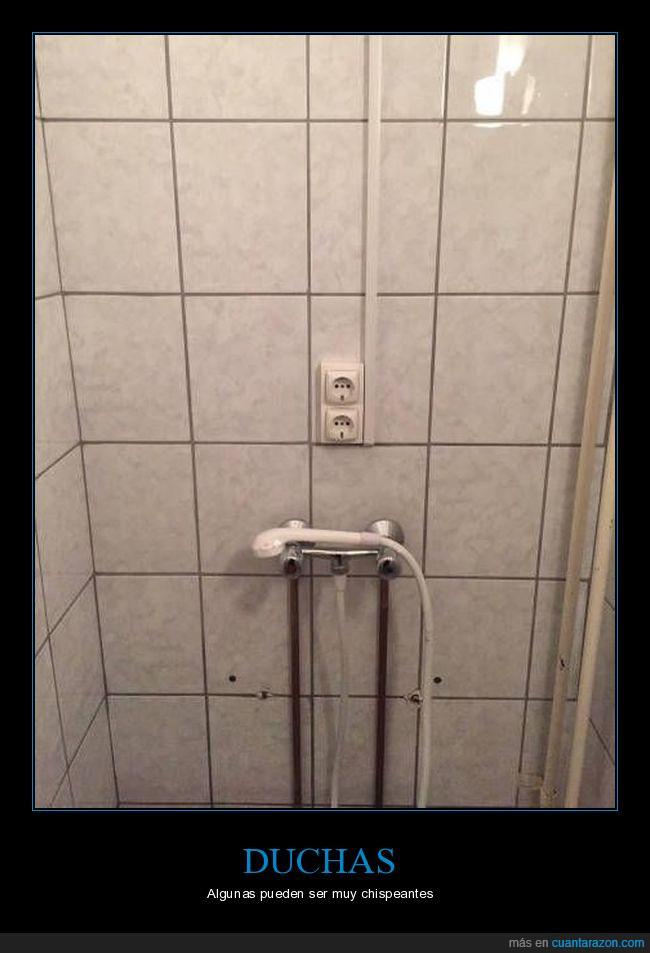 agua,chispas,ducha,electricidad,enchufe