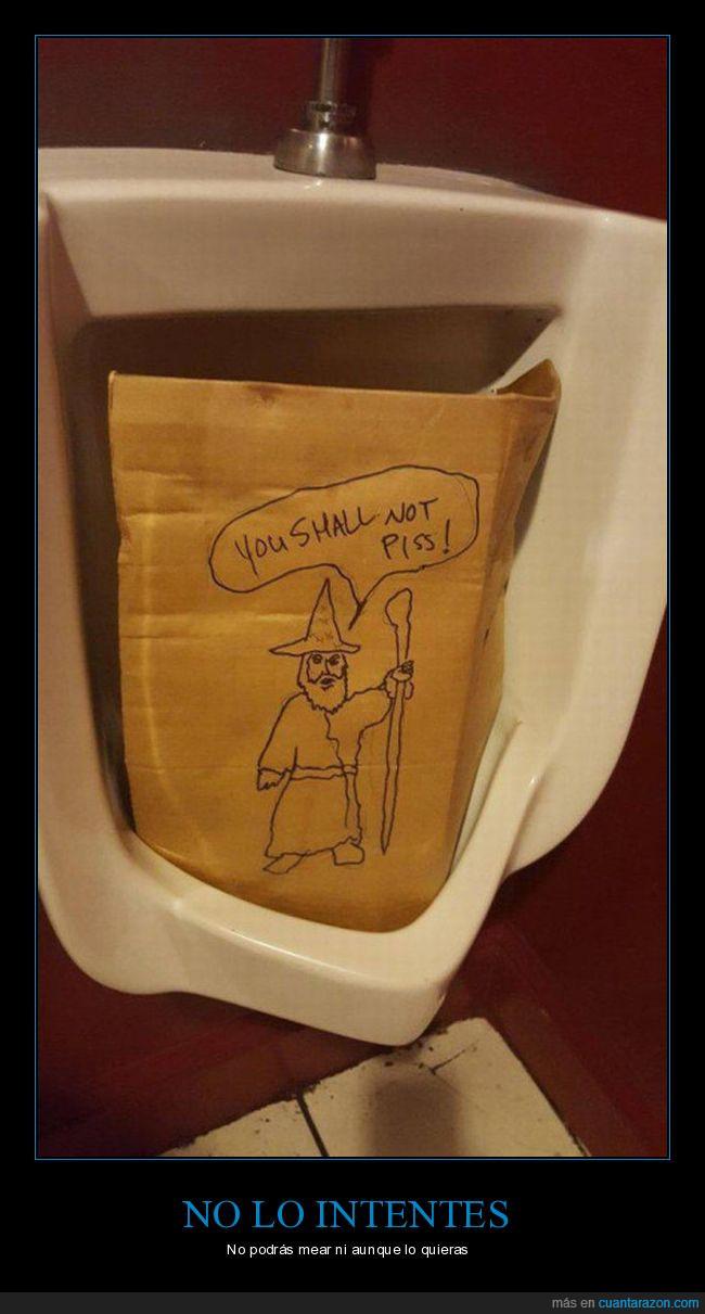 cartón,gandalf,lavabo,mear,no mearás