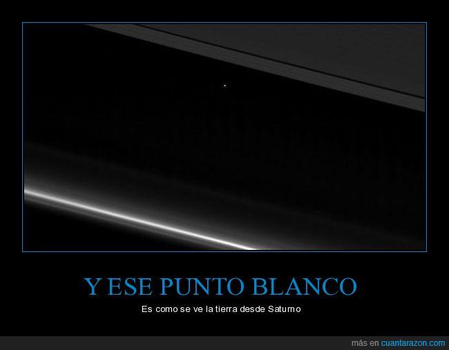 Nasa,Planeta Tierra,Punto Blanco,Saturno