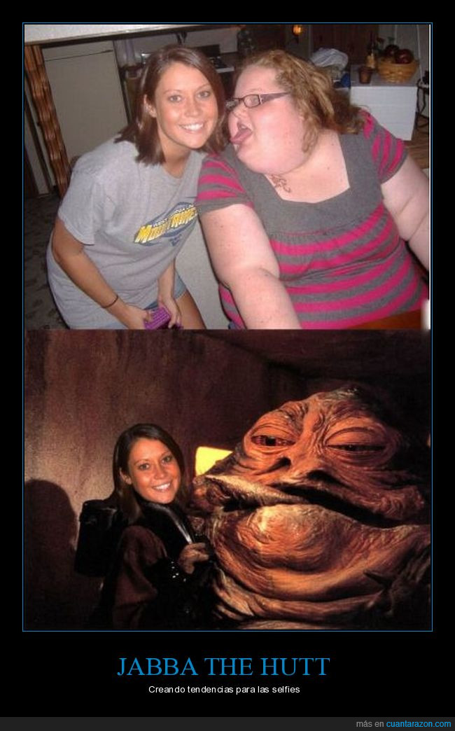 chicas,foto,humor,jabba the hutt,lengua,selfies,Star Wars