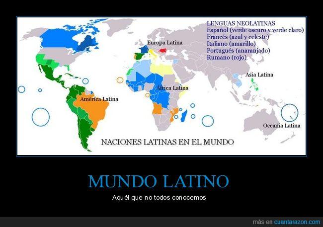 África Latina,América Latina,Asia Latina,España,Europa Latina,Francia,Francofonía,Hispanidad,Italia,Italianos,Lusitanidad,Oceanía Latina,Portugal,Rumania,Rumanos