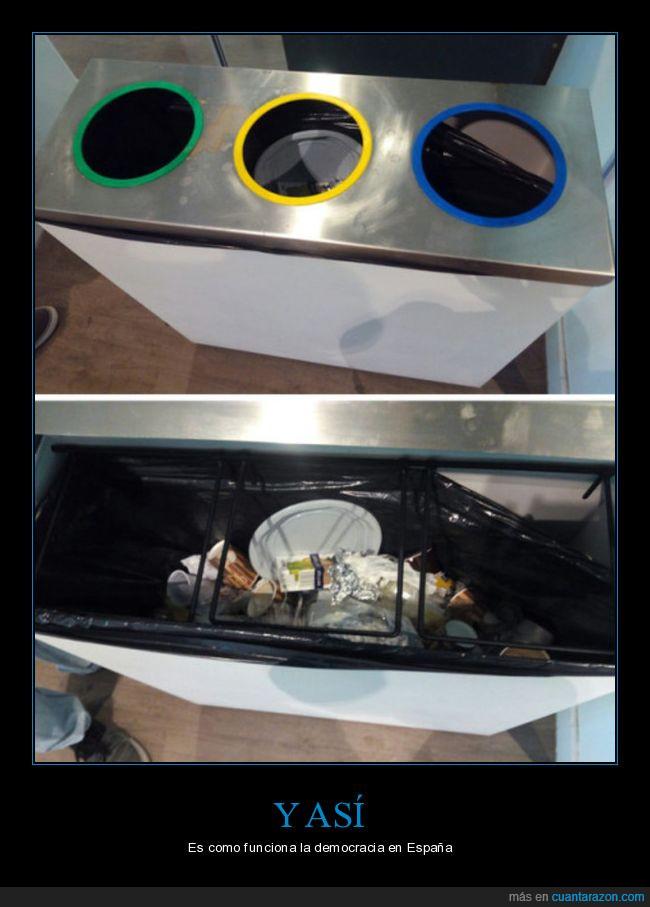 3 papel,basura,bolsa,democracia,España,plástico