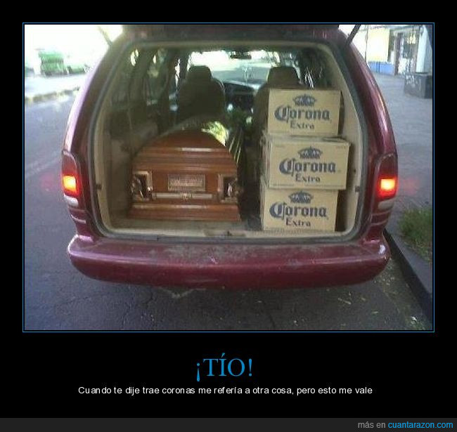 ataúd,caja,cerveza,coche,corona,entierro,fúnebre,muerto