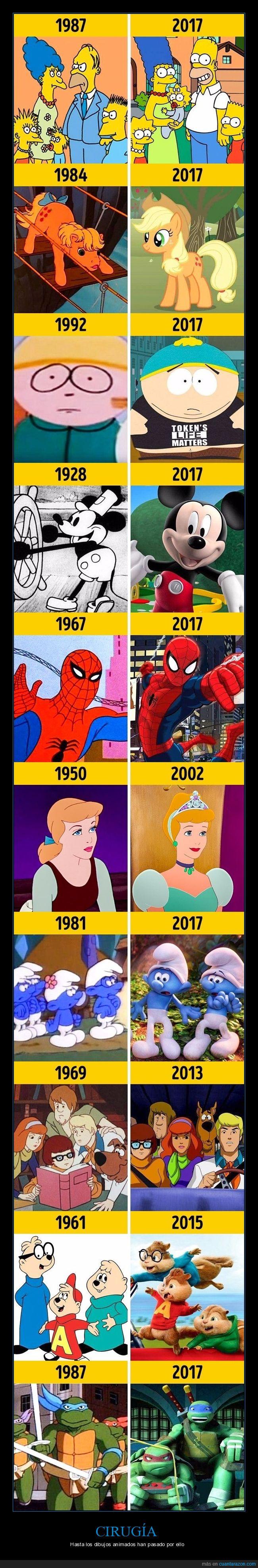 ahora,antes,cambio,cgi,dibujos animados