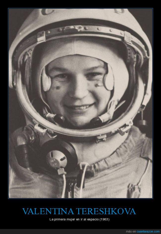 1963,astronauta,carrera espacial,Rusia,URSS,Valentina Tereshkova,viaje