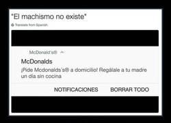Enlace a McDonald's y el mensaje incendario lleno de machismo propio de 1955 para el día de la Madre