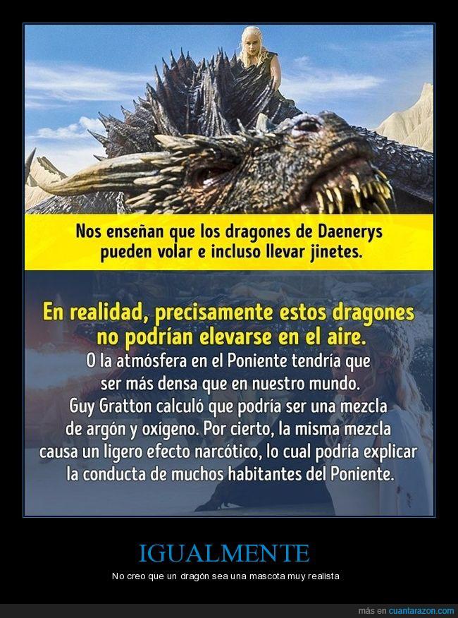 dragones,juego de tronos,realismo