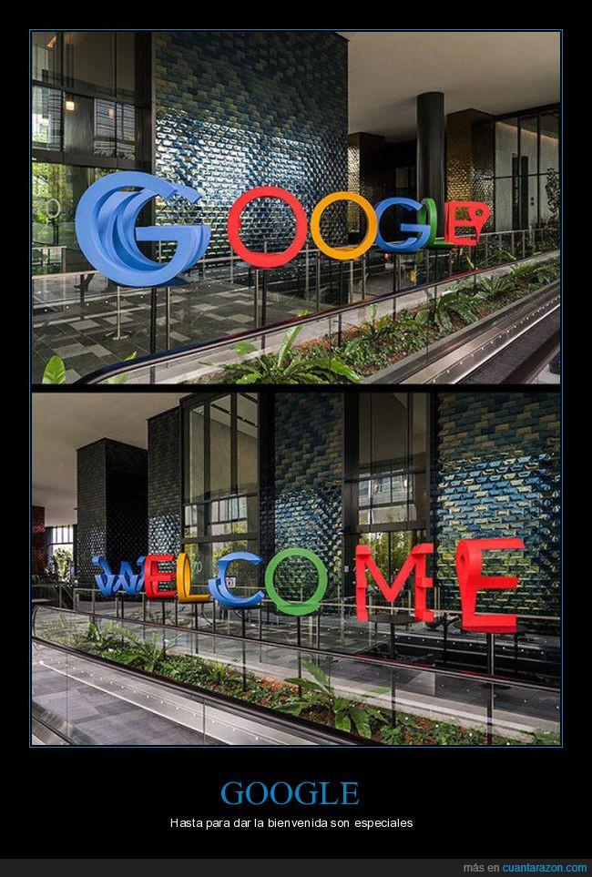 bienvenida,colores,efecto óptico,google,letras,welcome