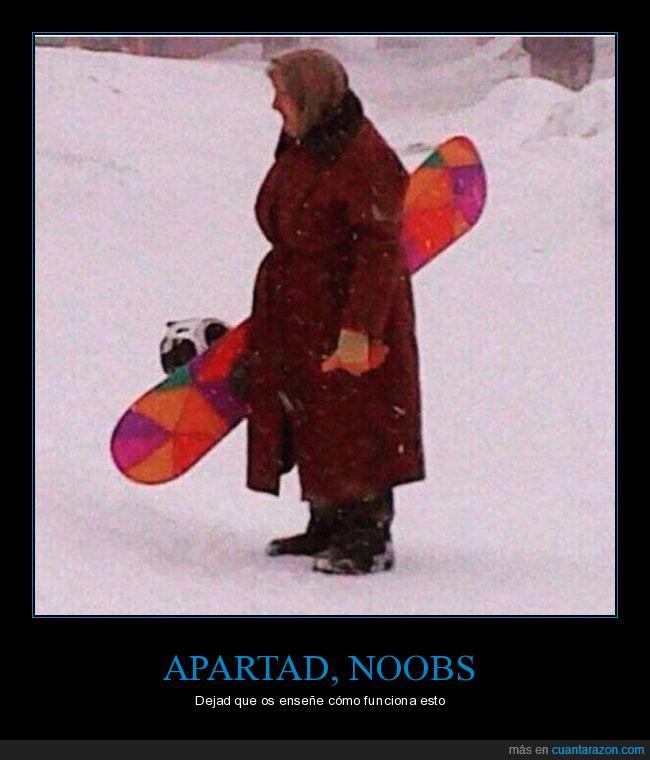 apartar,esquiar,nieve,noobs,snowboard