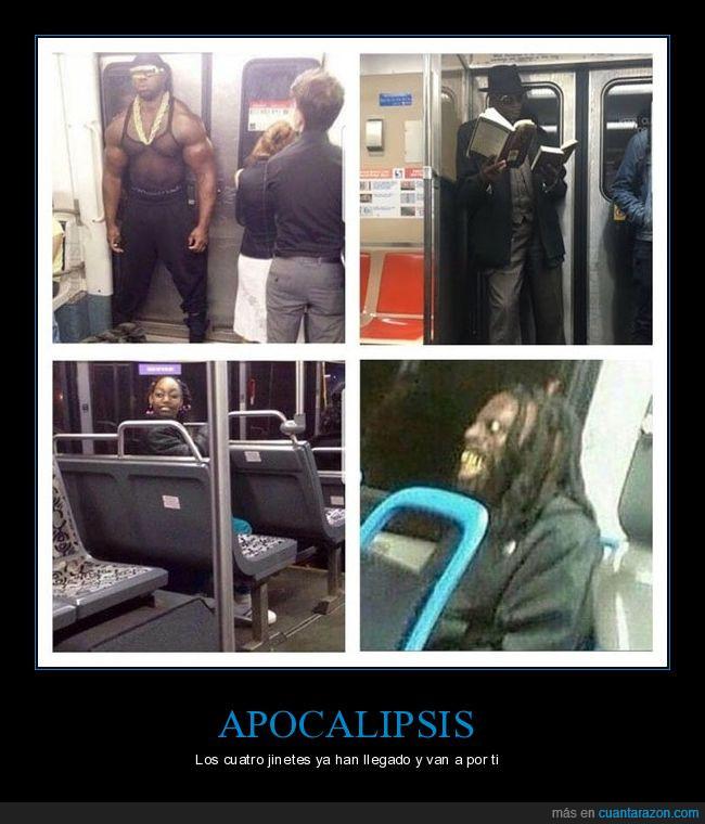 apocalipsis,cuatro jinetes,mama que miedo,negros