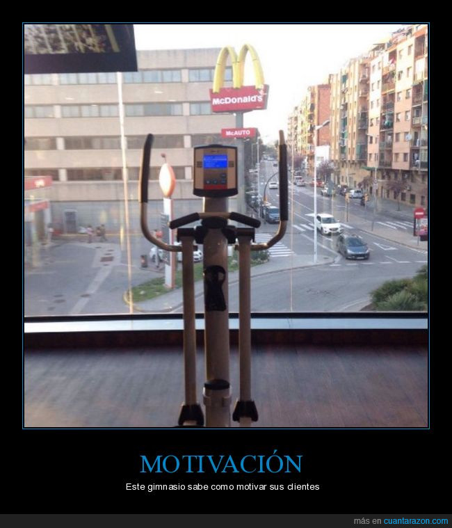 calle,cristal,gimnasio,McDonald's,motivación