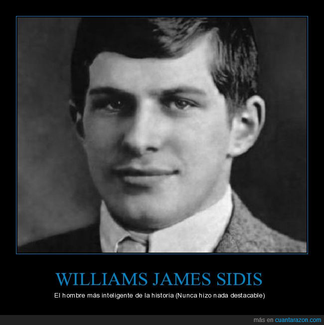 inteligente,williams james sidis