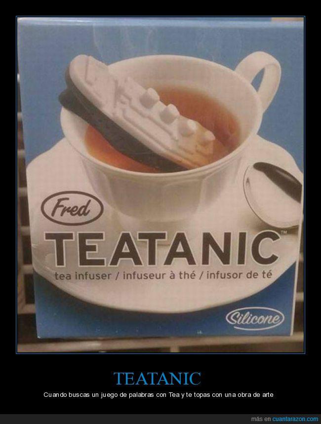 agua,obra de arte,taza,té,teatanic,titanic