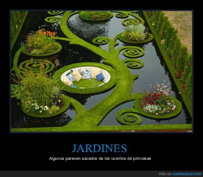 agua,cojines,cuento,jardín,princesa
