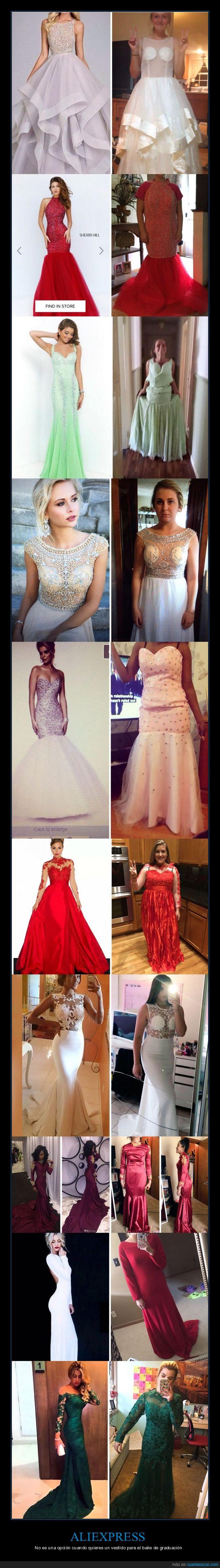 aliexpress,fail,graduación,prom,vestidos