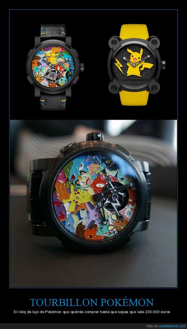 lujo,pokémon,reloj,romain jerome,tourbillon