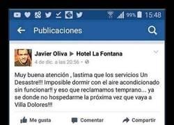 Enlace a Hotel recibe una rajada en su página de Facebook y su respuesta es aún más rajada