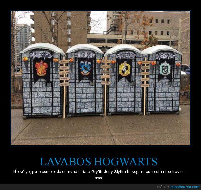 casas,Gryffindor,Harry Potter,hogwarts,lavabo,slytherin
