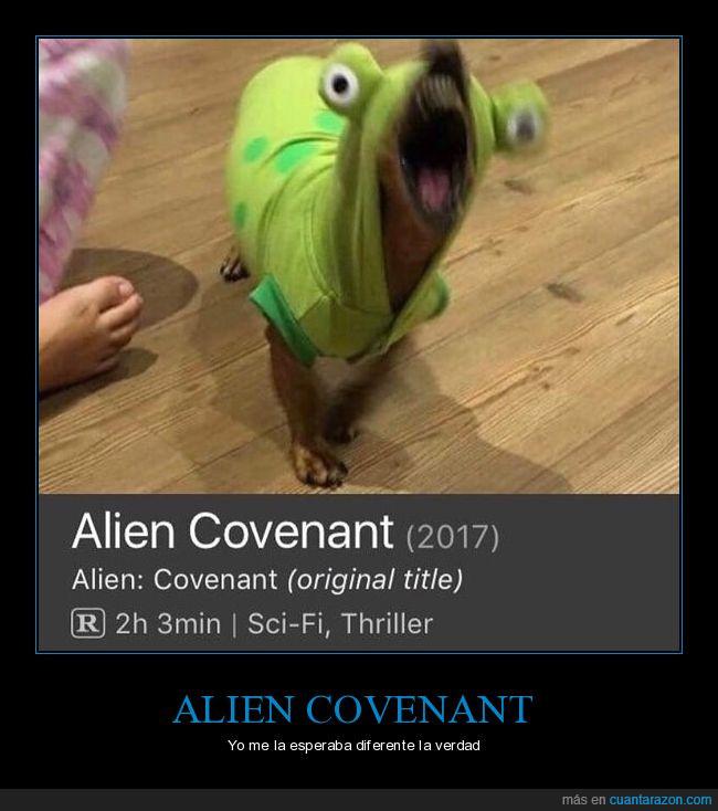 alient,covenant,disfraz,miedo,perro