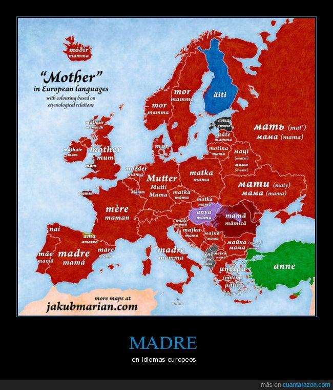 madre,mamá,mapa.Europa
