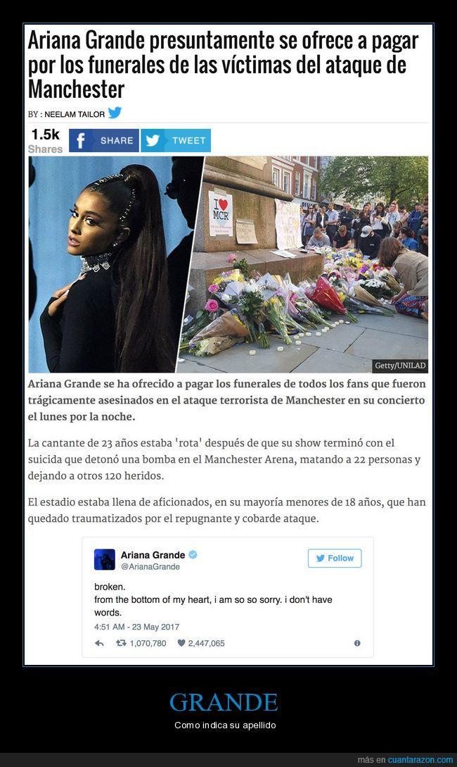ariana grande,ataque terrorista,funeral