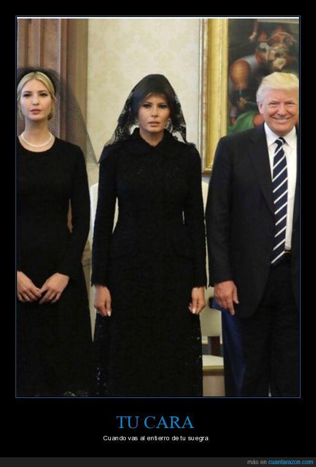 Donald Trump,esposa,humor,luto