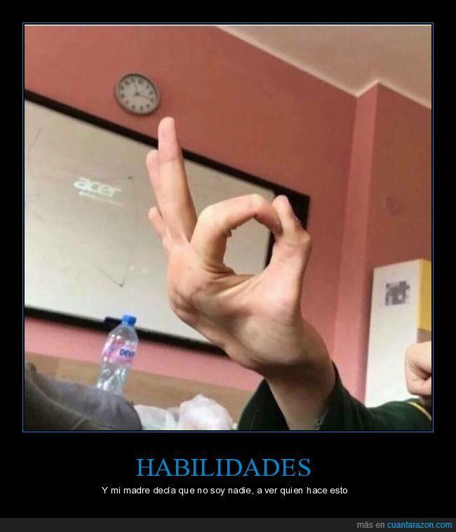 dedos,habilidad,madre,manos,okay
